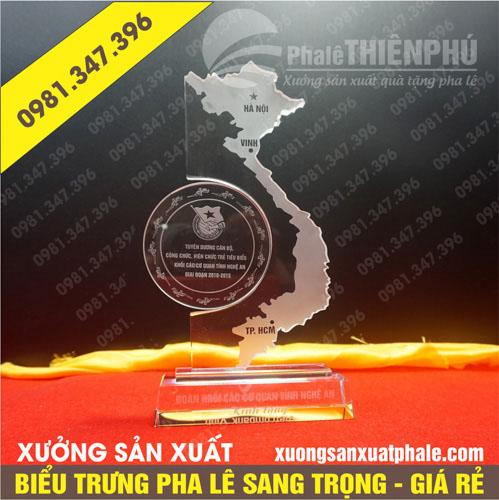 Biểu trưng pha lê bản đồ Việt Nam
